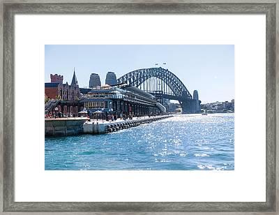 Sydney Bridge Framed Print by Niel Morley