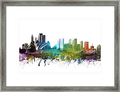 Sydney Cityscape 01 Framed Print by Aged Pixel
