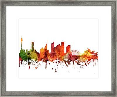 Sydney Cityscape 04 Framed Print by Aged Pixel