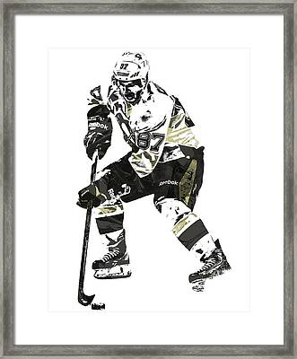 Sydney Crosby Pittsburgh Penguins Pixel Art3 Framed Print by Joe Hamilton