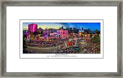 Sydney Gay And Lesbian Mardi Gras Parade Poster Print Framed Print by Az Jackson