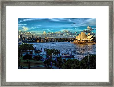 Sydney Harbor And Opera House Framed Print