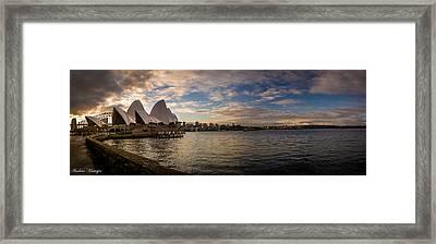 Sydney Harbor Framed Print by Andrew Matwijec