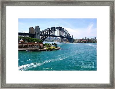 Sydney Harbor Bridge Framed Print