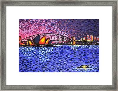 Sydney Harbour Framed Print by Alan Hogan