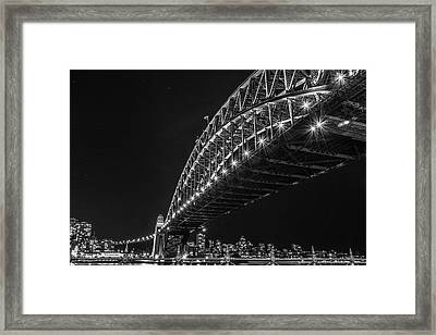 Sydney Harbour Bridge At Night Framed Print