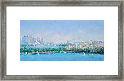 Sydney Harbour Bridge - Sydney Opera House - Sydney Harbour Framed Print by Jan Matson