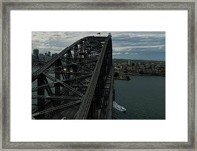 Sydney Harbour Bridge View From Tower Framed Print