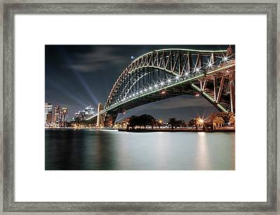 Sydney Harbour Lights Framed Print