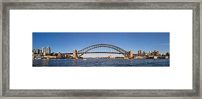 Sydney Harbour Panorama Framed Print by Nicholas Blackwell