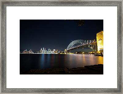 Sydney Harbour Silk Framed Print