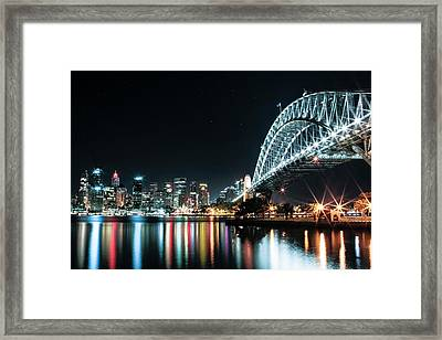 Sydney Harbour Sparkle Framed Print