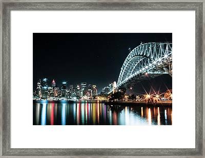 Sydney Harbour Sparkle Framed Print