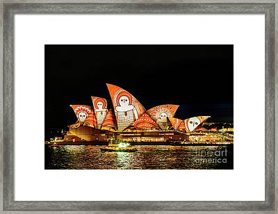 Ochre On Opera Framed Print