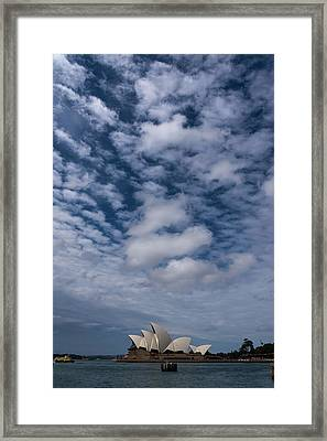 Sydney Opera House And Cloudscape Framed Print