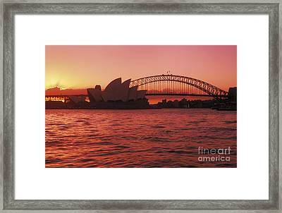 Sydney Opera House Framed Print by Bill Bachmann - Printscapes