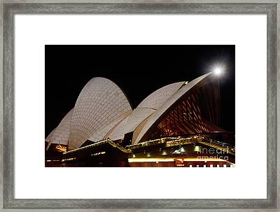 Framed Print featuring the photograph Sydney Opera House Close View 2 By Kaye Menner by Kaye Menner