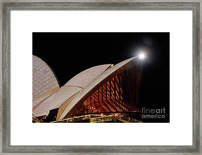 Framed Print featuring the photograph Sydney Opera House Close View By Kaye Menner by Kaye Menner