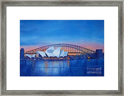 Sydney Opera House Framed Print by Dani Tupper