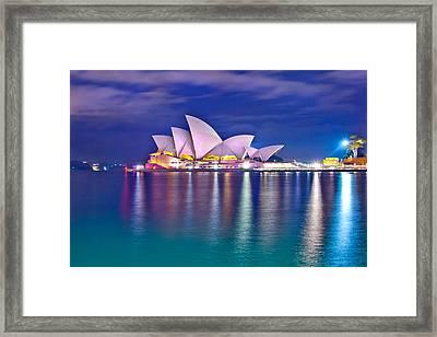 Sydney Opera House Pre Dawn Framed Print by Az Jackson