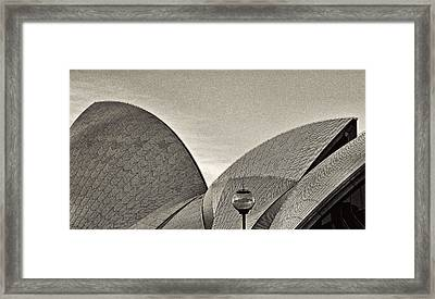 Sydney Opera House Roof Detail Framed Print