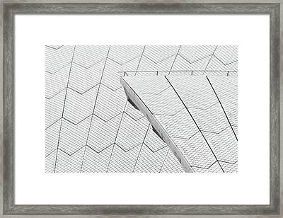 Sydney Opera House Roof No. 10-1 Framed Print