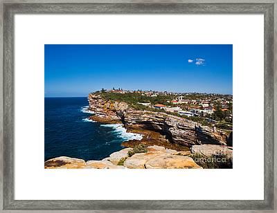 Sydney Sandstone Clifftop Framed Print by John Buxton