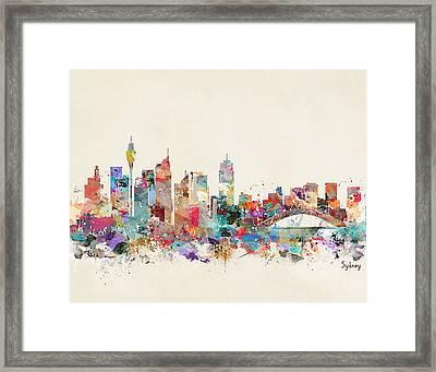 Sydney Skyline Australia Framed Print