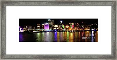 Sydney Skyline By Kaye Menner Framed Print