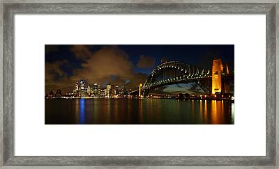 Sydney Skyline Framed Print by Melanie Viola