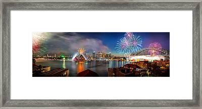 Sydney Sparkles Framed Print by Az Jackson