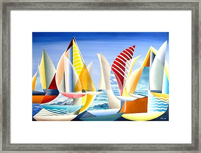 Sydney To Hobart Race Framed Print by Douglas Pike