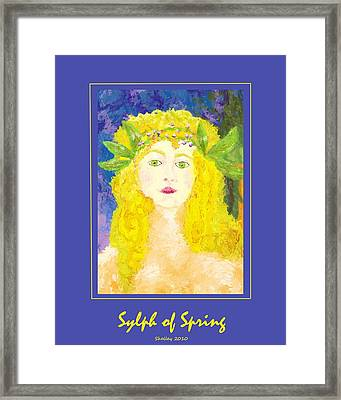 Framed Print featuring the painting Sylph Of Spring Poster by Shelley Bain