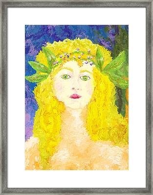 Framed Print featuring the painting Sylph Of Spring by Shelley Bain