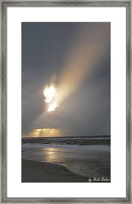 Sylt Angel Flame Framed Print by Heidi Sieber
