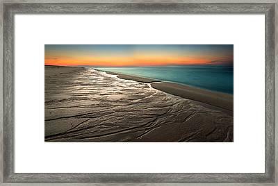 Sylt Low Tide Sundown Framed Print