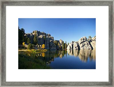 Sylvan Lake, Custer South Dakota Framed Print