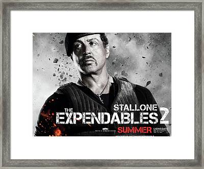 Sylvester Stallone In Expendables 2 Framed Print