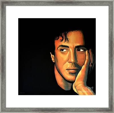 Sylvester Stallone Framed Print by Paul Meijering