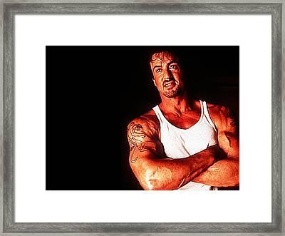Sylvester Stallone Framed Print
