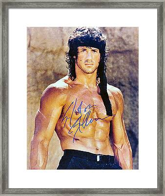 Sylvester Stallone Framed Print by Studio Release