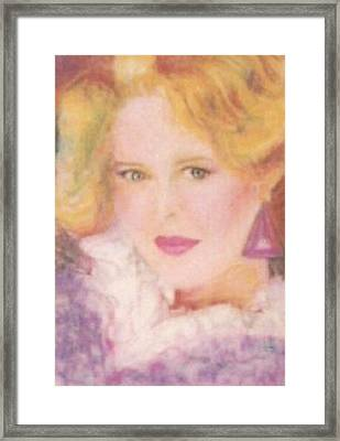 Framed Print featuring the drawing Sylvia by Denise Fulmer