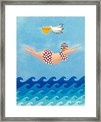 Sylvia Diving II Framed Print by Stephanie Troxell