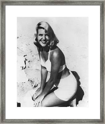 Sylvia Plath, C. 1954 After Her Nervous Framed Print