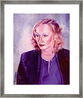 Sylvia Schneider Framed Print by John Keaton