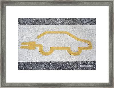 Symbol For Electric Car Framed Print