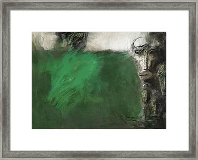 Symbol Mask Painting - 03 Framed Print