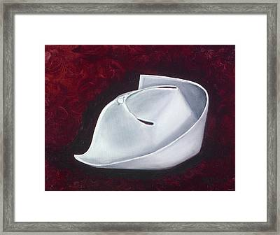 Framed Print featuring the painting Symbol Of A Proud Profession  by Marlyn Boyd