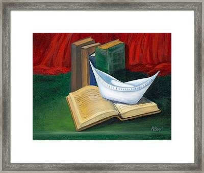 Framed Print featuring the painting Symbol Of A Proud Profession V by Marlyn Boyd