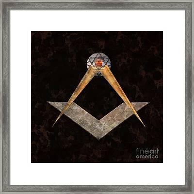 Symbol Of The Freemasons By Mary Bassett Framed Print